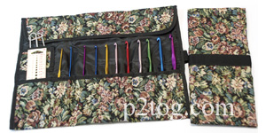 Tapestry case for knitting needles or crochet hooks